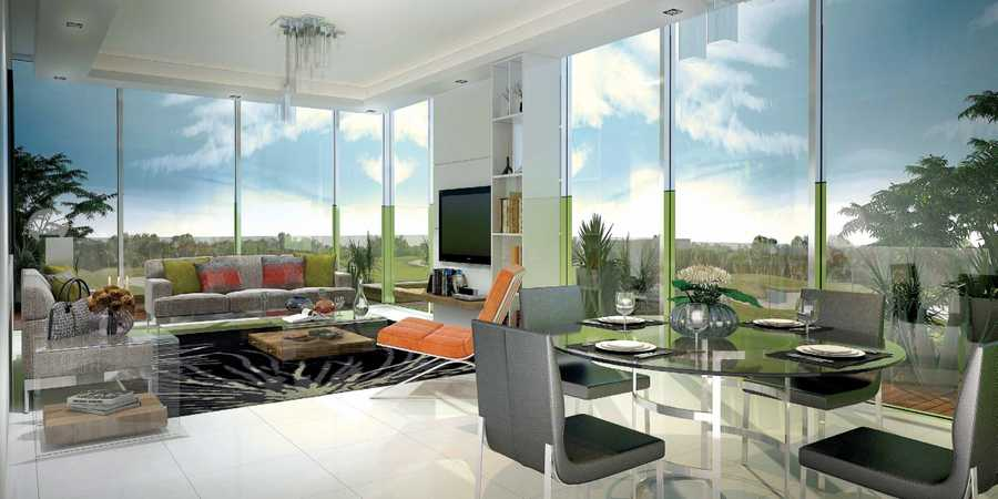 Golf Condominiums and Townhouses – Living Room