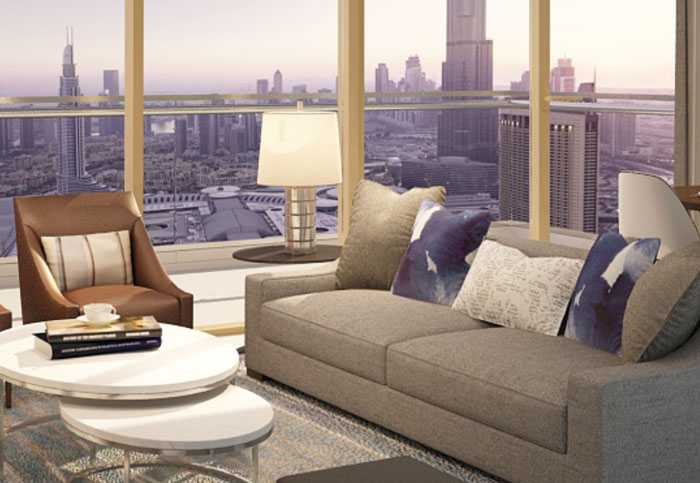 Downtown Views – Living Room