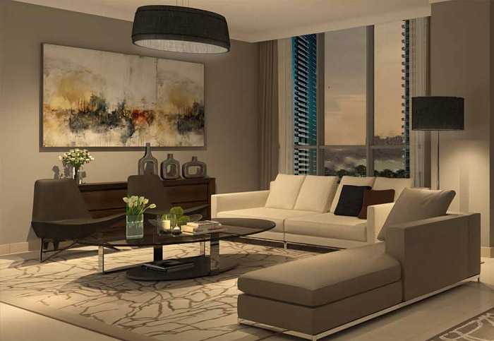Dubai Creek Residences – Living Room