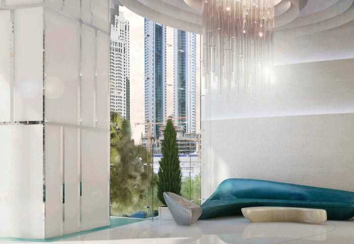 Damac Heights – Living Room